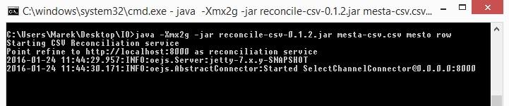 OpenRefine vs Reconcile start server